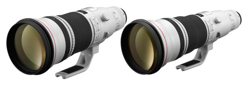 EF500mm f/4L IS II USM and EF600mm f/4L IS II USM lenses