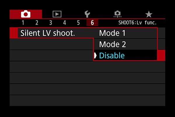 Disable silent shooting in LV mode for flash
