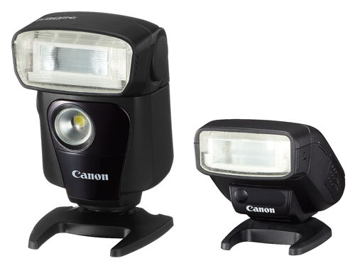 Canon Speedlite 320EX and Speedlite 270EX II flashes