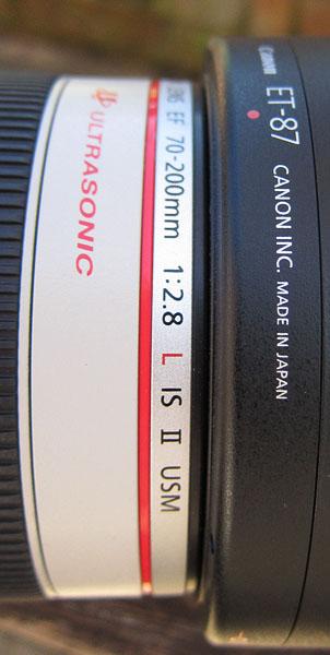 EF70-200mm f/2.8L IS II USM with hood