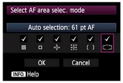 EOS-1D X AF selection