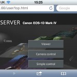 EOS-1D Mark IV with WFT-E2 II in HTTP / web server mode