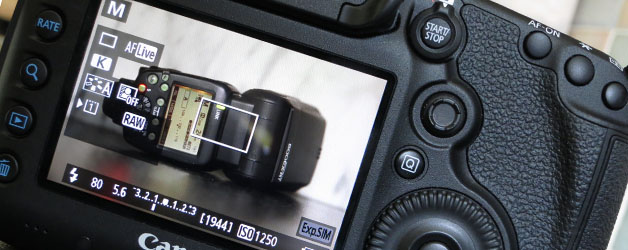 Tethered shooting in Live View mode with Speedlite flash