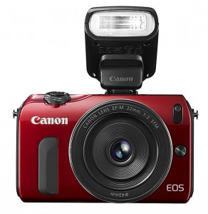 Canon EOS M with Speedlite 90EX flash