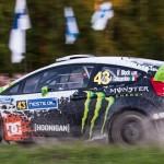 Ken Block on Special stage 3 Mynnilä WRC Neste Oil Rally Finland 2012