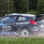 Oskar Tanak on Special stage 3 Mynnilä WRC Neste Oil Rally Finland 2012