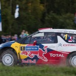 Sebastien Loeb on Special stage 3 Mynnilä WRC Neste Oil Rally Finland 2012