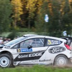 Jari-Matti Latvala on Special stage 3 Mynnilä WRC Neste Oil Rally Finland 2012