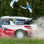 Mikko Hirvonen on Special stage 3 Mynnilä WRC Neste Oil Rally Finland 2012