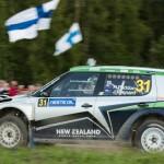 Hayden Paddon on Special stage 3 Mynnilä WRC Neste Oil Rally Finland 2012