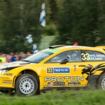 P.G. Andersson on Special stage 3 Mynnilä WRC Neste Oil Rally Finland 2012