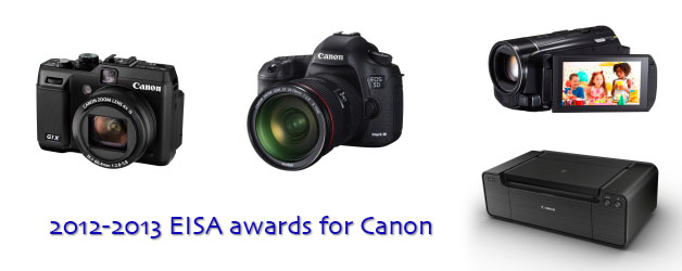 Canon wins four EISA awards