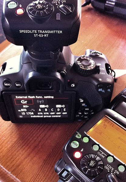 EOS 650D working with Speedlite 600EX-RT and ST-E3-RT