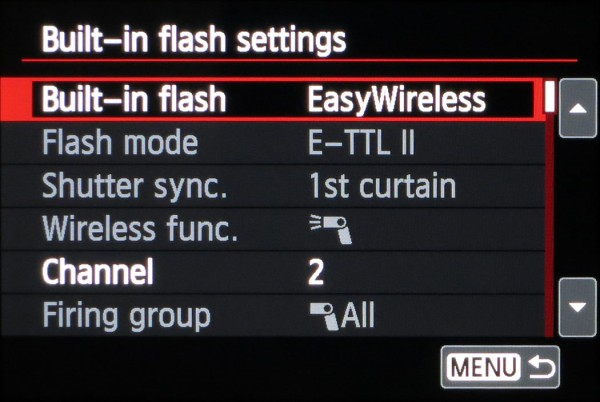 EOS 650D Easy Wireless flash setup complete