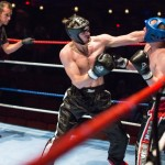 Paul Morgan (Pegasus) and Mathew Brunger (TKD) fighting at Storm Full Contact kickboxing event