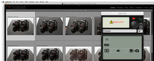 EOS 6D WiFi tethered shooting to Lightroom