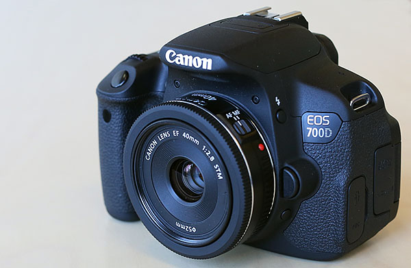 EOS 700D with EF 40mm f/2.8 STM