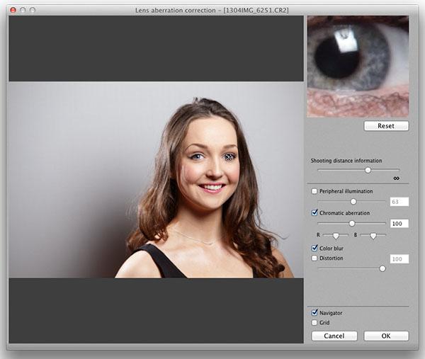 Uncorrected lens aberration correction for peripheral illumination