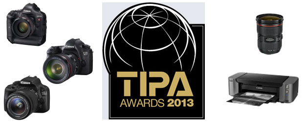 Canon wins five 2013 TIPA awards