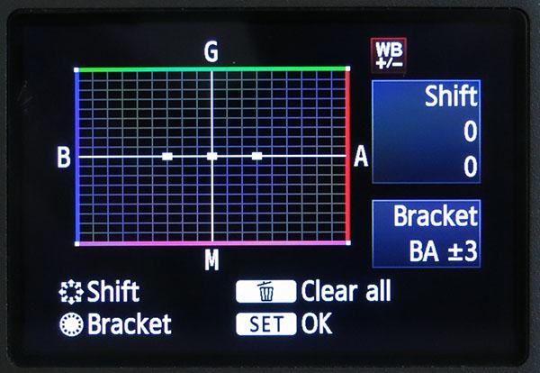 Blue - amber white balance bracketing on the EOS 5D Mark III