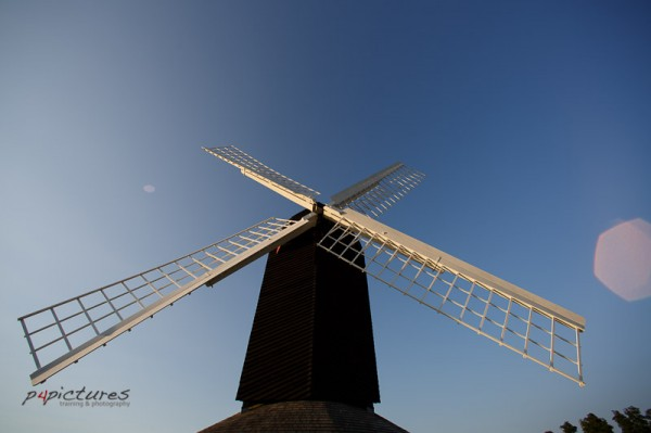 Lete evening and sunset at Brill windmill