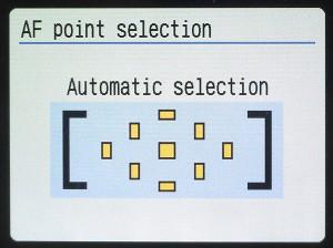 autofocus point selection automatic
