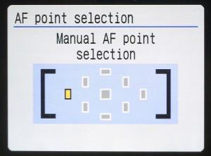 autofocus point selection manual