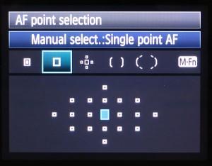 single point af selection