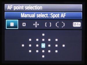 spot AF point selection