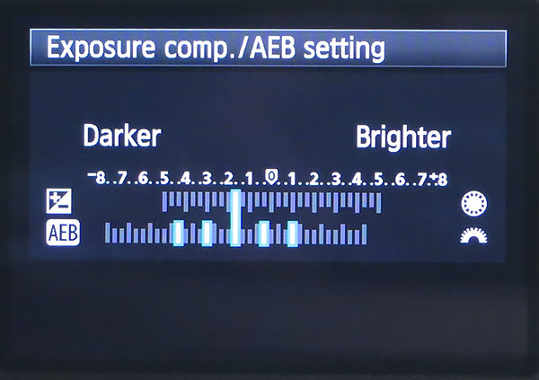 exposure compensation and bracketing