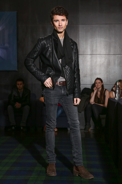 Male model at the casting session for Oxford Fashion Week