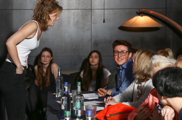 Casting directors and model at Oxford Fashion Week