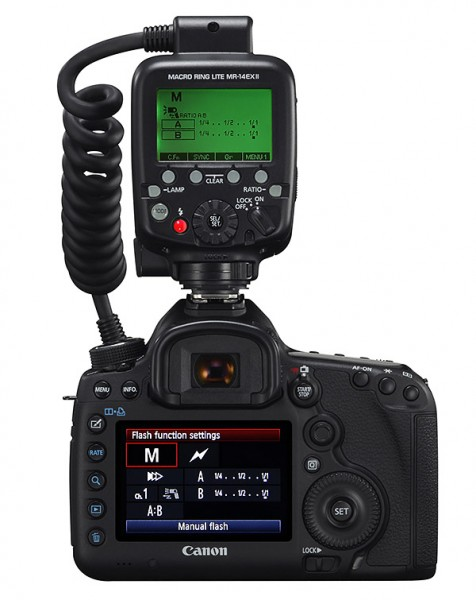 Control from camera menu MR-14EX II