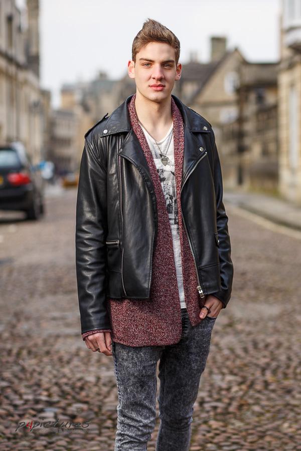 Fashion model test shoot in Oxford