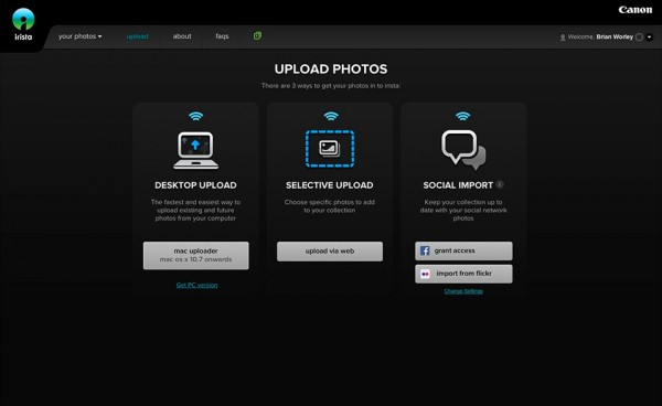 irista upload methods