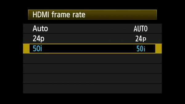 EOS 5D Mark III HDMI framerate