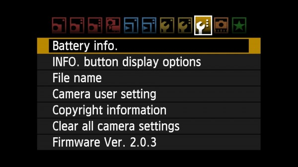 LCD Screenshot captured from EOS 7D