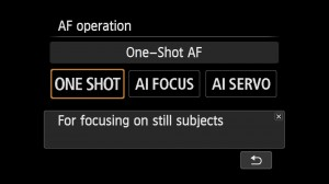 Back button autofocus - ONE SHOT