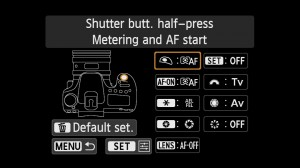 Custom controls to set back button focus on the EOS 70D
