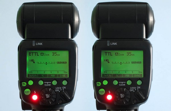 E-TTL and TTL flash metering