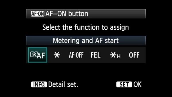 EOS 5D Mark III back button focus