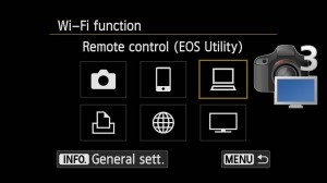 WiFi Pairing cameras with EOS Utility 3