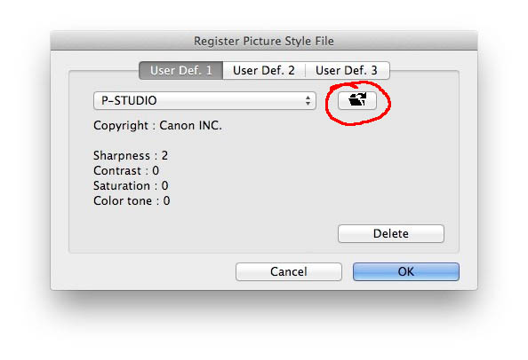 How to install a custom Picture Style in your EOS camera