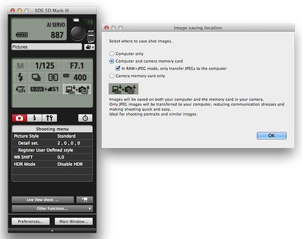 EOS Utility RAW + JPEG