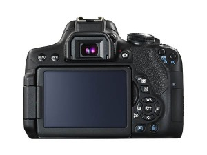 EOS 750D back view