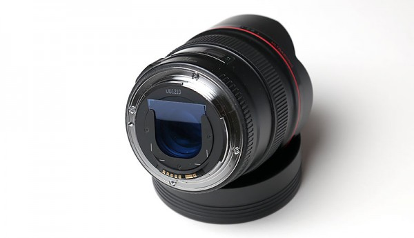 EF 14mm f/2.8L USM fitted with CTB gel filter