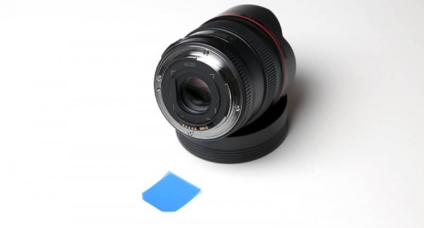 Gel filter & EF 14mm f/2.8L USM lens