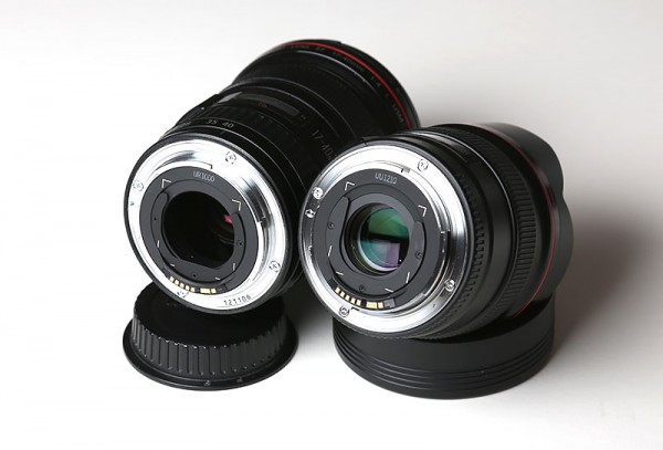 Canon lenses with gel filter holder