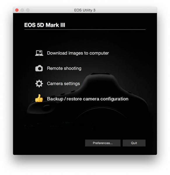 EOS Utility feature to backup restore camera settings 600px