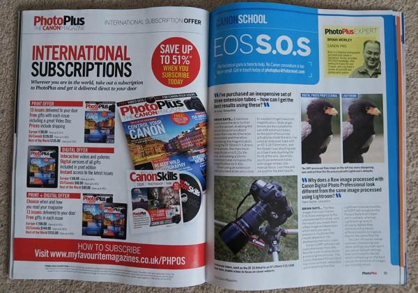 PhotoPlus magazine EOS S.O.S. column